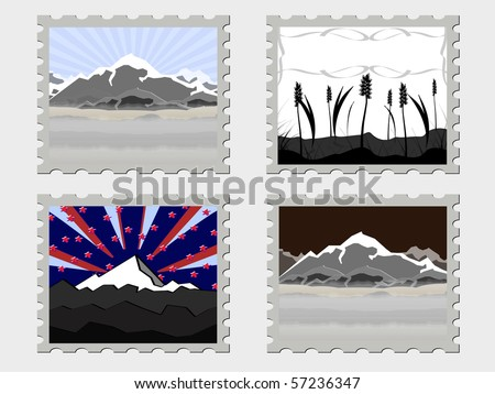 some vector abstract stamps - stock vector