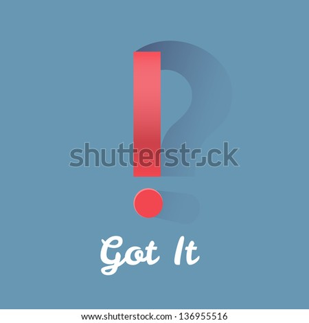 Sometimes answers bring more questions. - stock vector
