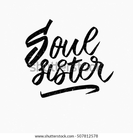 soul sister ink hand lettering modern stock vector hd royalty free rh shutterstock com