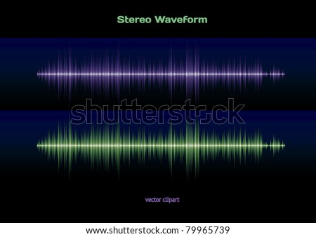 Sound and music stereo wave