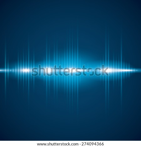 Sound design over blue background, vector illustration.