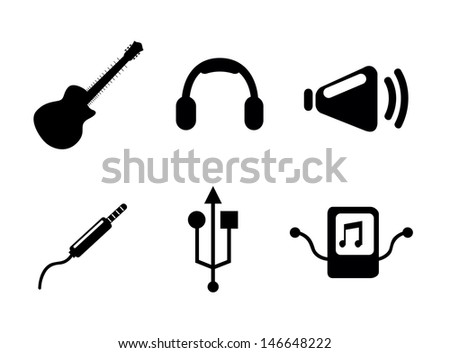 sound icons over white background vector illustration  - stock vector