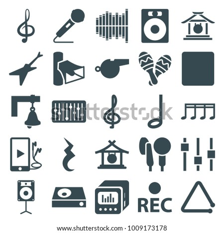 Sound Icons Set 25 Editable Filled Stock Vector 2018 1009173178