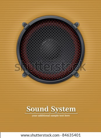 sound loud speaker vector illustration