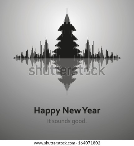 Sound of New Year, vector - stock vector