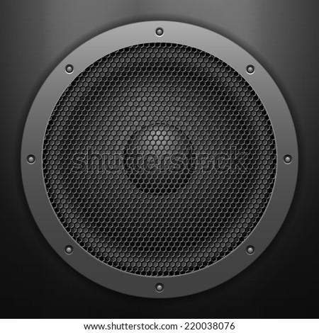 Sound speaker background. Vector illustration. - stock vector