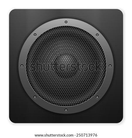 Sound speaker on a white background. - stock vector