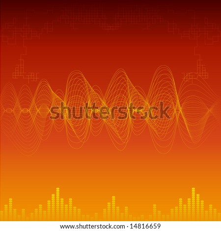 Sound wave background vector illustration