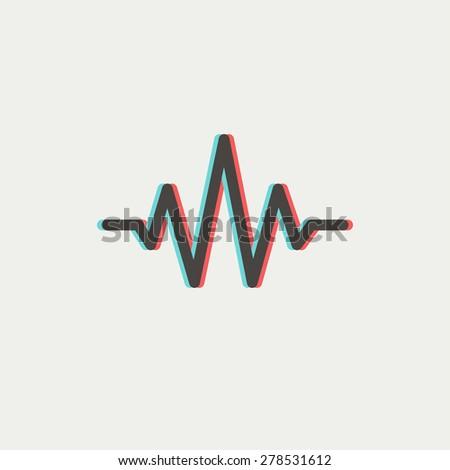 music logo concept sound wave audio stock vector 463723844