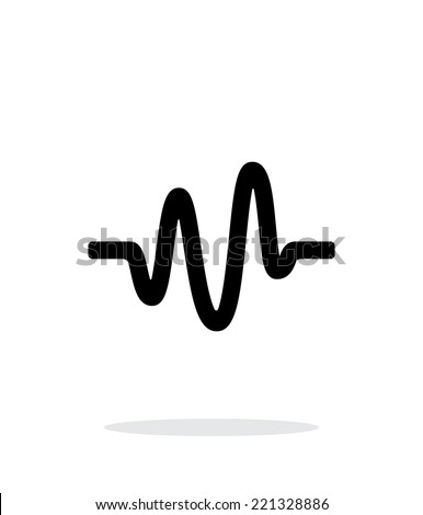 Sound wave icon on white background. Vector illustration. - stock vector