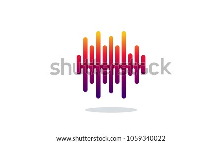 sound wave vector illustration modern pulse stock vector 1059340022 rh shutterstock com