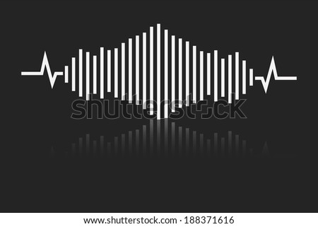 sound waves  - stock vector