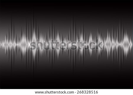Sound waves oscillating dark black light, Abstract technology background. Vector.