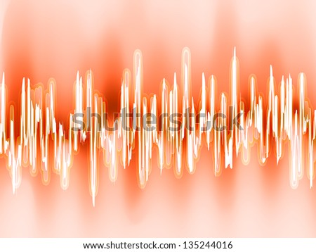Sound waves oscillating glow light. EPS 8 vector file included - stock vector