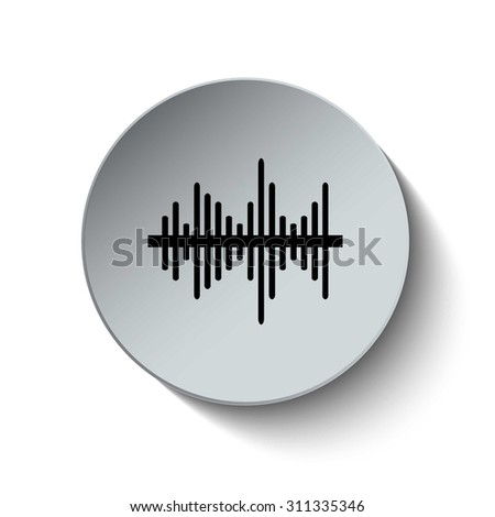 Soundwave icon. Audio icon. Volume icon. Sound icon. Media icon. Illustration. Vector. EPS 10 - stock vector