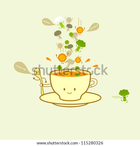 Soup in a cup vegetable vision healthy food