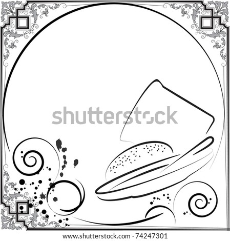 soup menu - stock vector
