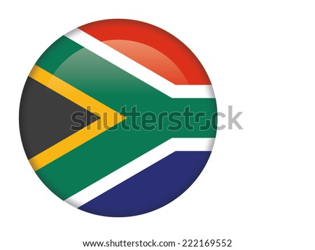 South Africa glossy round button