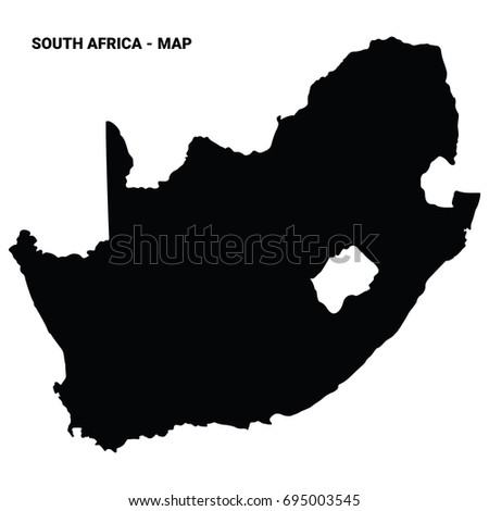 south africa map silhouette