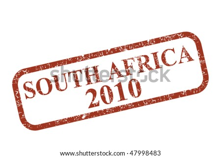 South Africa Stamp - stock vector