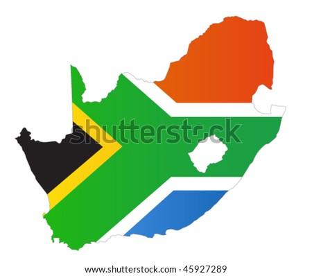 South Africa vector map - stock vector