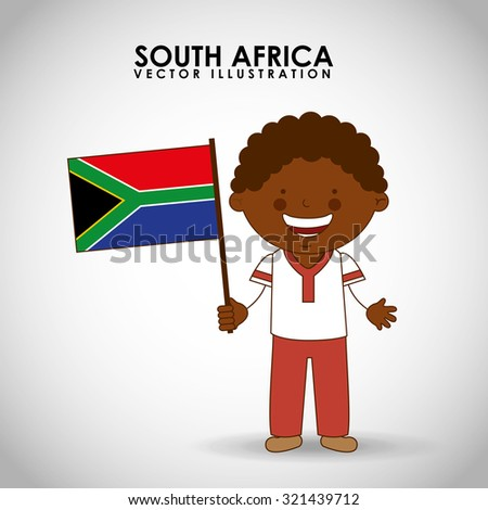 south african kid design, vector illustration eps10 graphic