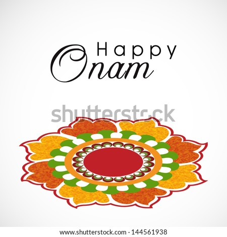 South indian festival onam wishes background stock vector 144561938 south indian festival onam wishes background m4hsunfo