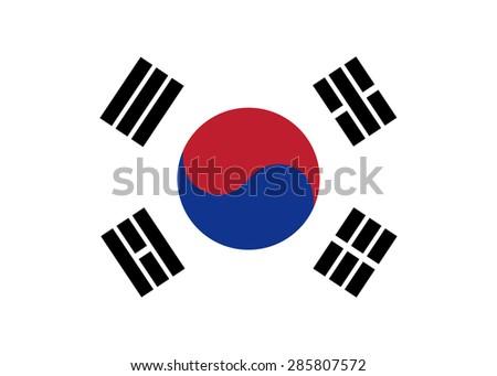 South Korea flag vector - stock vector