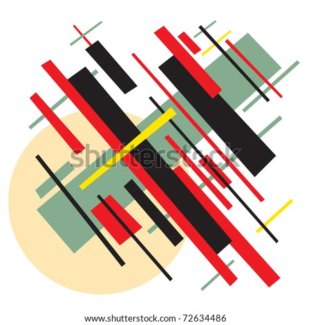 Soviet abstract painting background in style socialist avant-garde art - stock vector