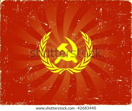 Soviet communistic background VECTOR - stock vector