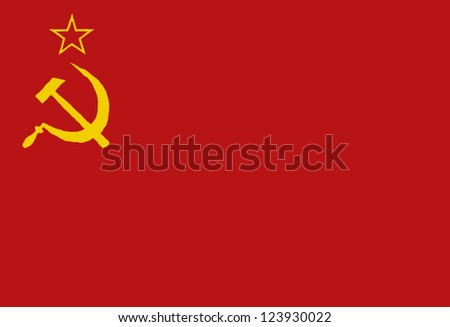 Soviet Flag - stock vector