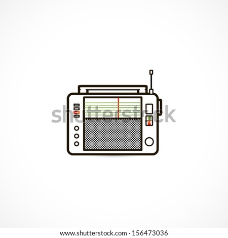 Soviet receiver, fm radio - stock vector