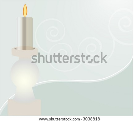 spa candle - stock vector