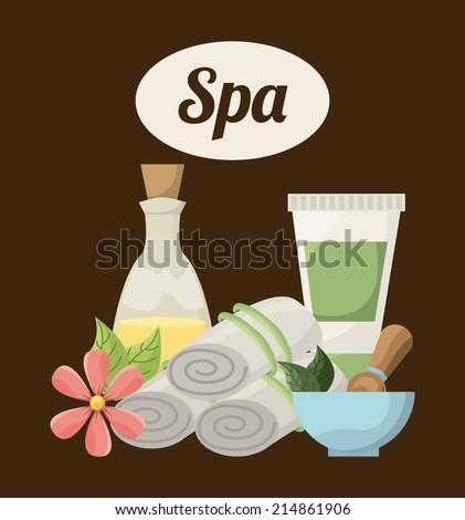 spa design over brown background vector illustration - stock vector