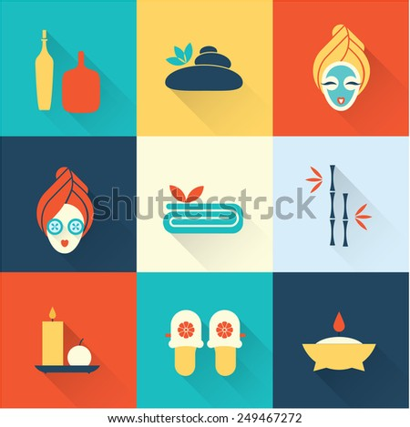 Spa icons - stock vector