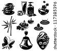 Spa icons set vector - stock vector