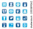Spa objects icons - vector icon set - stock vector