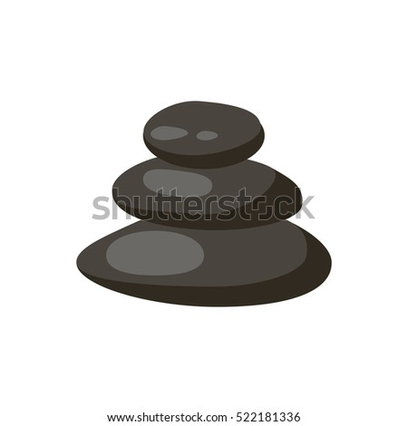 Spa stones isolated vector and relaxation spa stones isolated. Spa stones isolated pebble concept therapy, heap spa stones isolated beauty tranquil relax