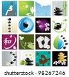 Spa & wellness graphic design elements for icons, logos & background. (Part 4) - stock vector