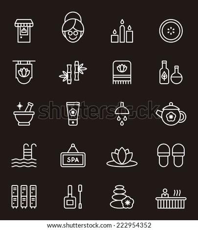 Spa & Wellness icons - stock vector