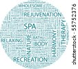 SPA. Word collage on white background. Illustration with different association terms. - stock vector