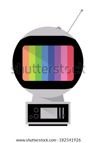 Space Age TV. Retro Television. vector - stock vector