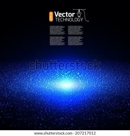 Space and Galaxy - stock vector