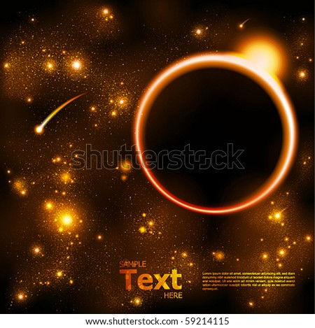 space and star background - stock vector