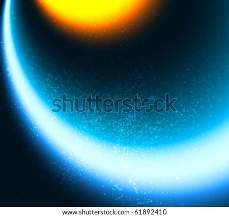 Space background - stock vector