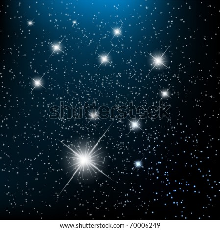 Space background withbright stars in cosmos. EPS10 vector illustration - stock vector