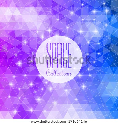 Space collection. Vibrant night sky with stars and nebula. Deep outer space background with stars and nebula. Composition of colorful fractal paint and lights on the subject of art and abstraction.