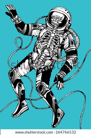 Skateboard Skull Isolated Black Background Stock ...