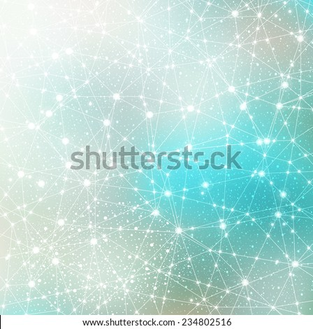 space cosmic constellation with stars on a blurred background with lights - stock vector
