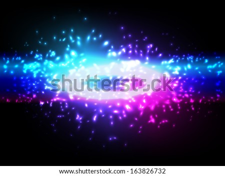 Space explosion, vector illustration, eps10. Glad to see you in my portfolio=) - stock vector